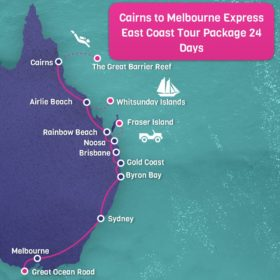 Cairns to Melbourne Map