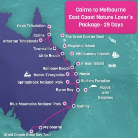 Cairns to Melbourne East Coast Nature Lover's Package - 29 days