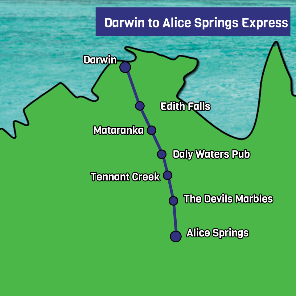 Darwin to Alice Springs Express