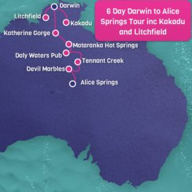 6 Day Darwin to Alice Springs including Kakadu