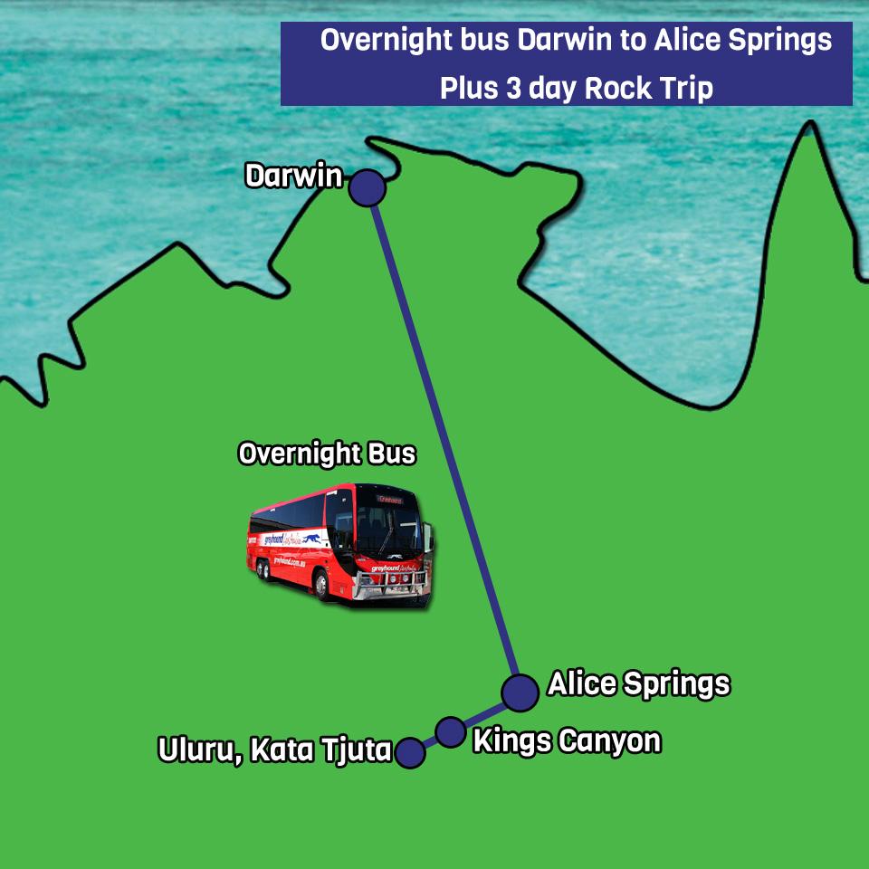 Darwin to Alice Springs Bus Pass Red Centre Uluru Tour