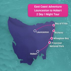 2 Day 1 night Launceston to Hobart tour East Coast Adventure