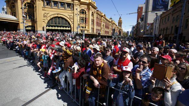 Watching AFL Grand Final Parade