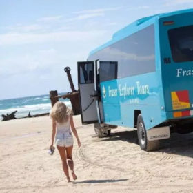 Four Wheel Drive Tour Bus Fraser Island