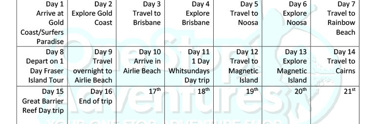 Brisbane to Cairns Tour