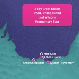 Great Ocean Road Phillip Island and Wilsons Promontory Map