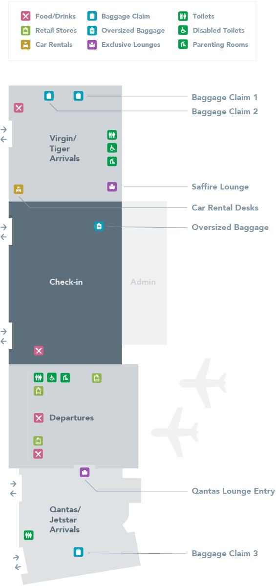 Hobart Airport Map