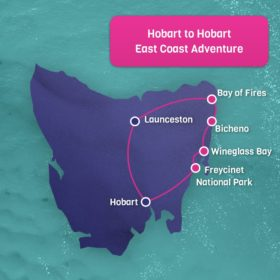 Hobart to Hobart East Coast Adventure 2 Day