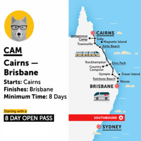 Stray Australia Cam Cairns to Brisbane Bus Pass
