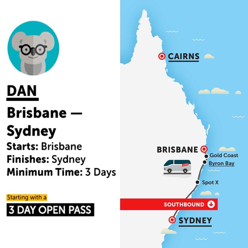 Brisbane Map Australia.Stray Australia Dan Bus Pass Brisbane To Sydney