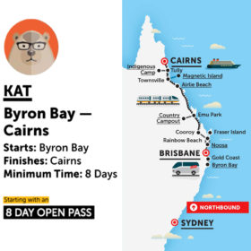Stray Australia Byron Bay to Cairns Kat Bus Pass