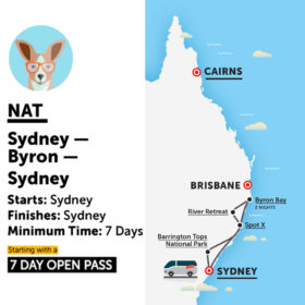 Stray Australia Nat Sydney to Byron Bay and Return Bus Pass