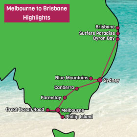 Melbourne to Brisbane Tour