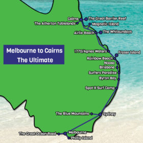Melbourne to Cairns The Ultimate Tour Map
