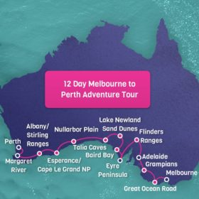 Melbourne to Perth Map