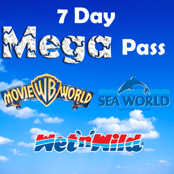 Movie World, Wet and Wild and Sea World 7 day Mega Pass!