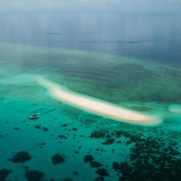 Aerial view of Mackay Reef