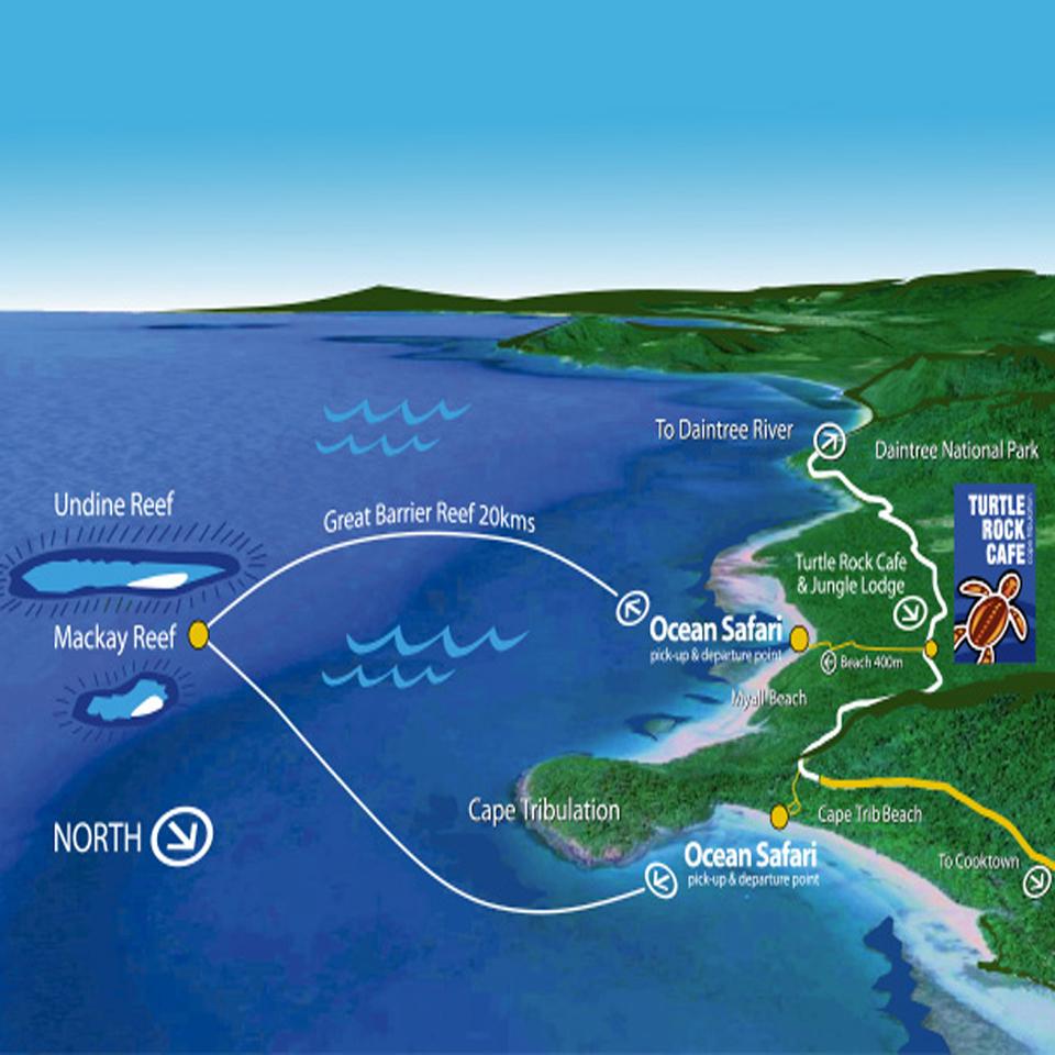 Ocean Safari Trip Map