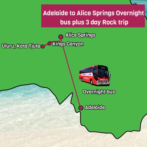 Uluru Rock trip plus bus from Adelaide