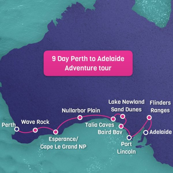 Perth to Adelaide Map