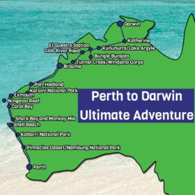 Perth to Darwin Map
