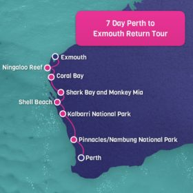 Perth to Exmouth Return 7 Day Adventure