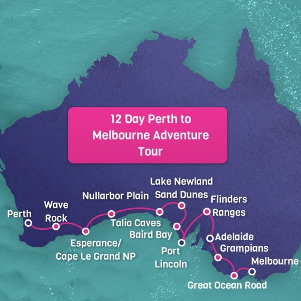 Perth to Melbourne Map