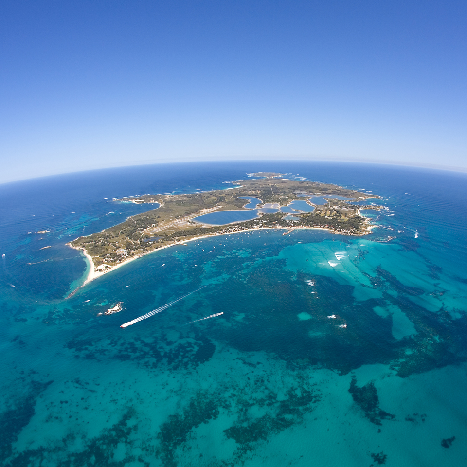 Aerial view of Rottnest