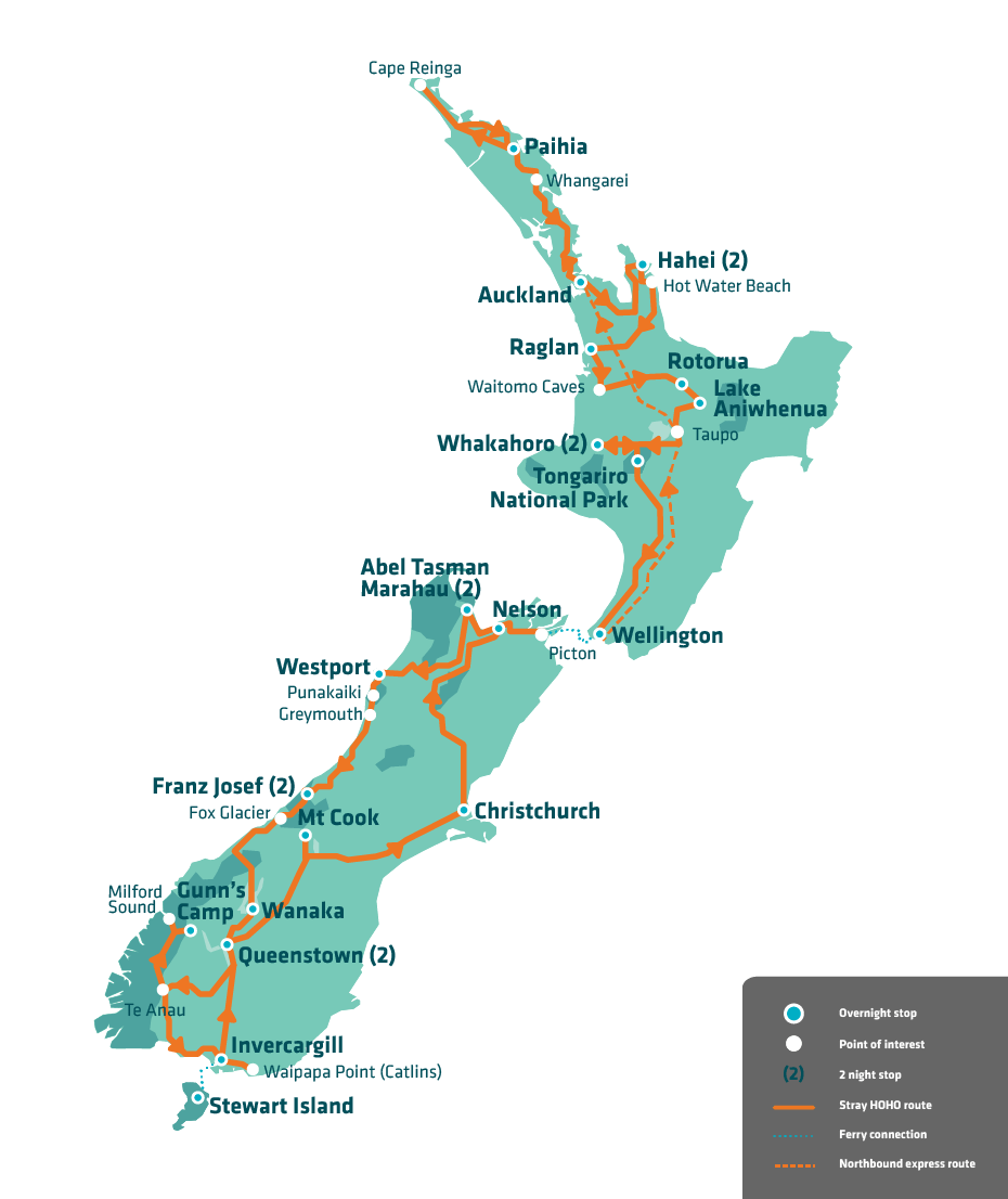 Best Route To Travel Around New Zealand