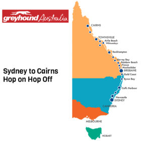 Greyhound Sydney to Cairns Hop on Hop off Bus Pass
