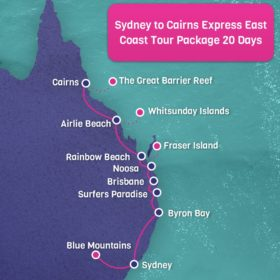 Sydney to Cairns Express East Coast Tour Package - 20 days