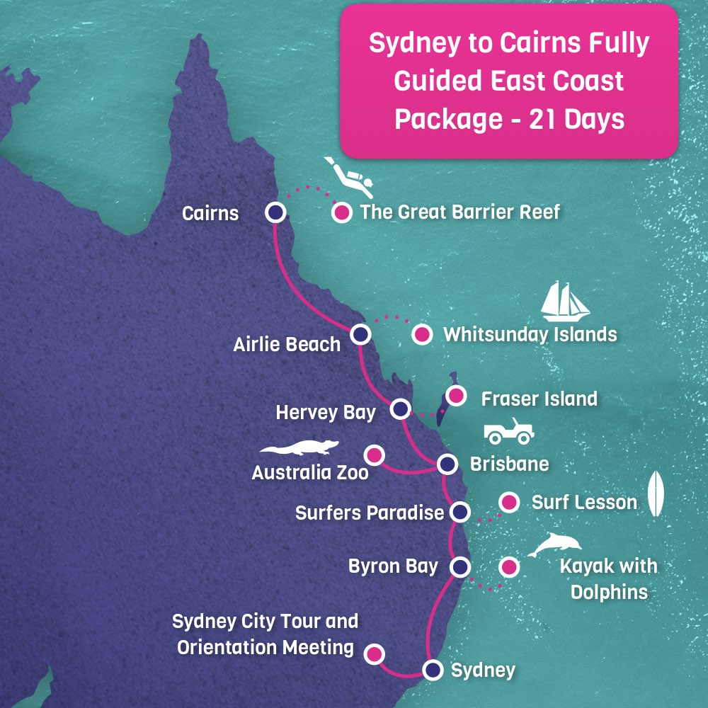 21 Days Sydney To Cairns Tour 2899