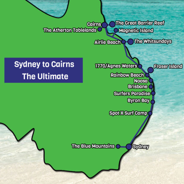 Sydney to Cairns The Ultimate map