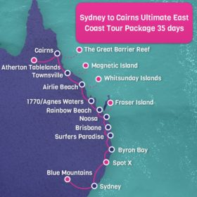 Sydney to Cairns ULTIMATE East Coast Tour Package - 35 days
