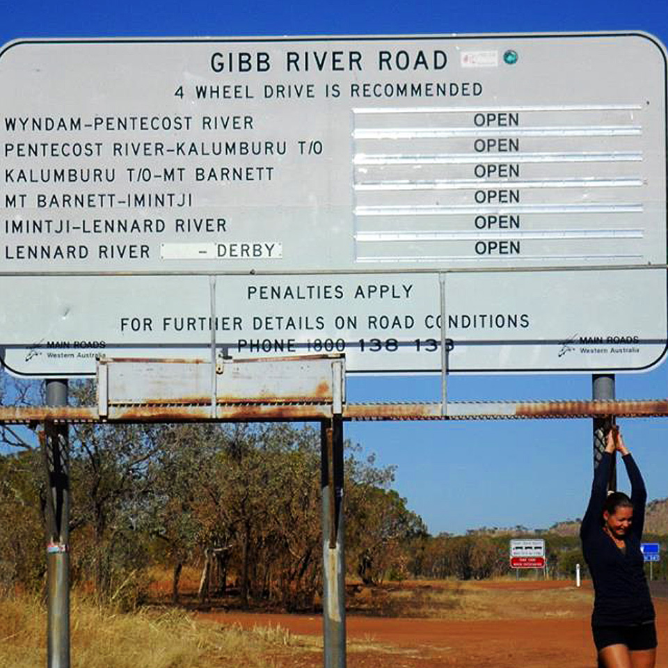 The Gibb River Road sign