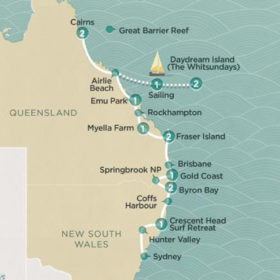 14 Day Cairns To Sydney fully guided Island Suntanner