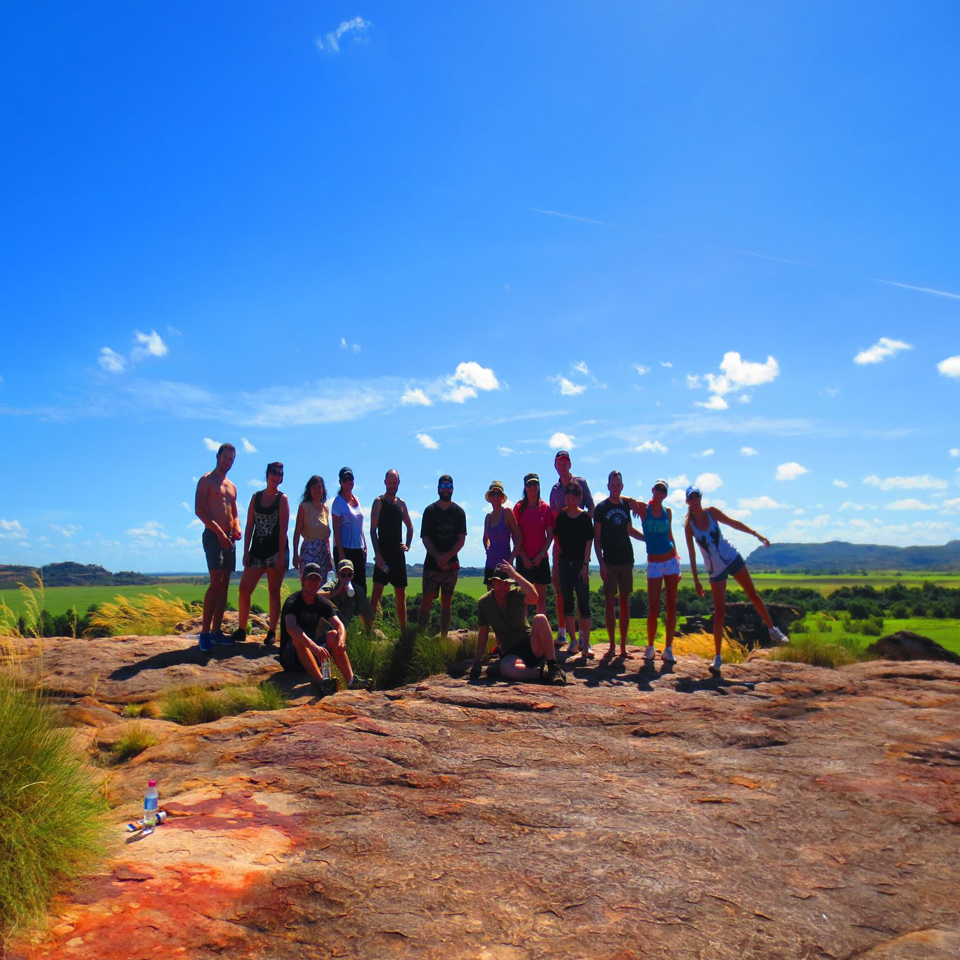 at the top of ubirr