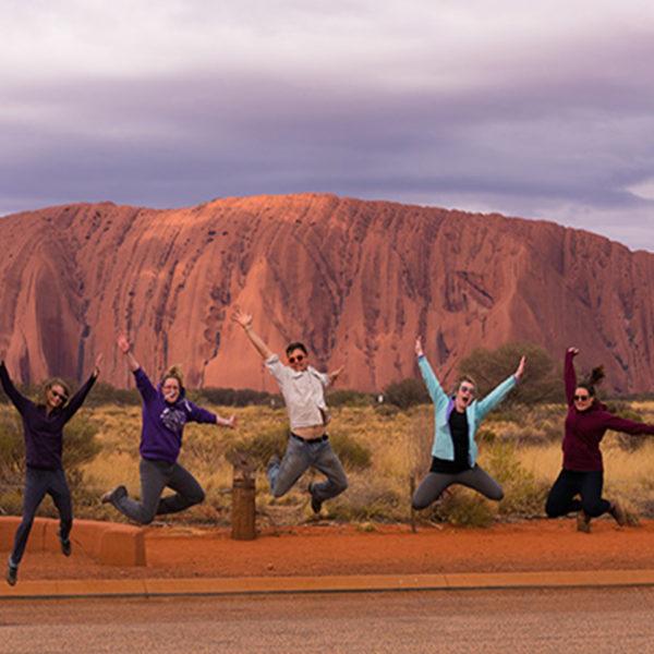 Jump photo at Uluru