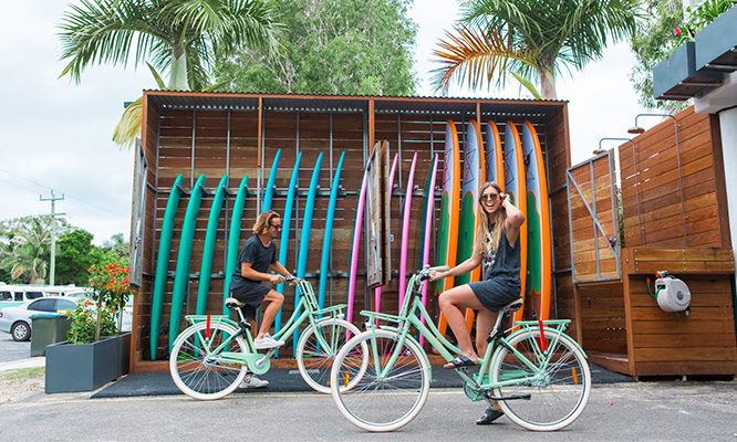 Surfboard and Bike Hire Wake Up Byron Bay