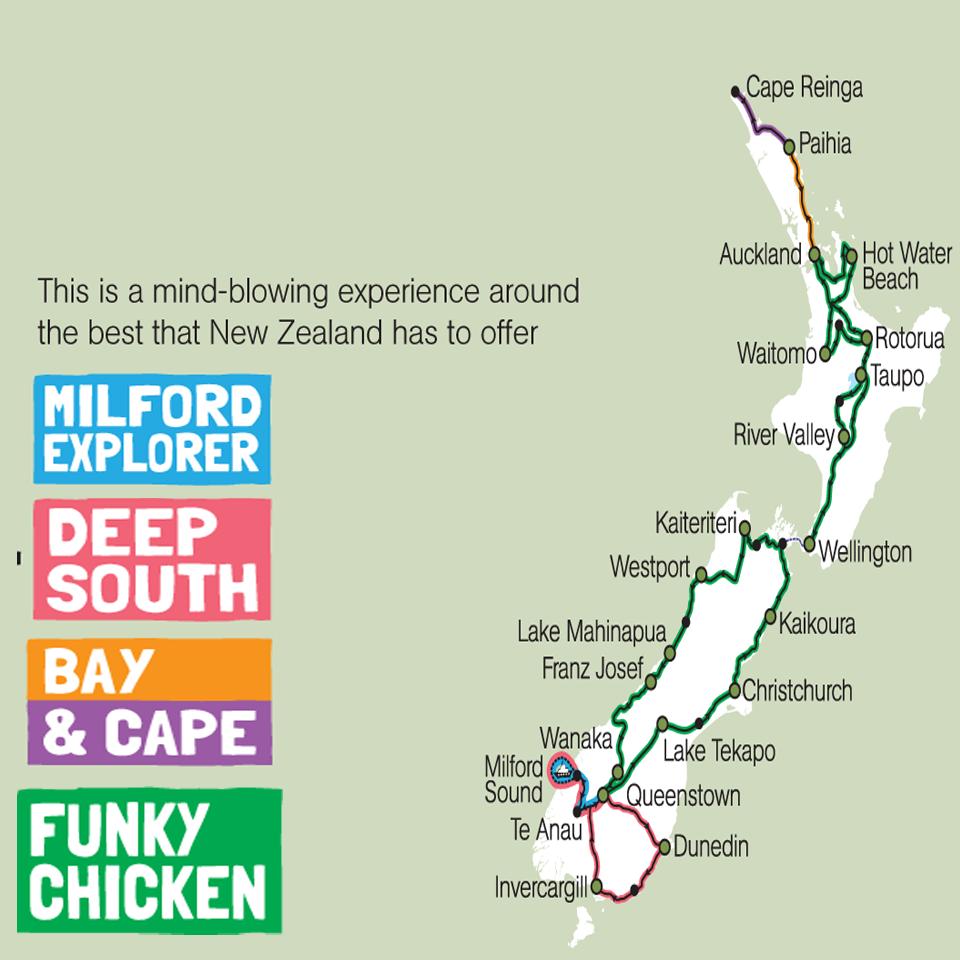 Kiwi Experience Funky Chicken Tour