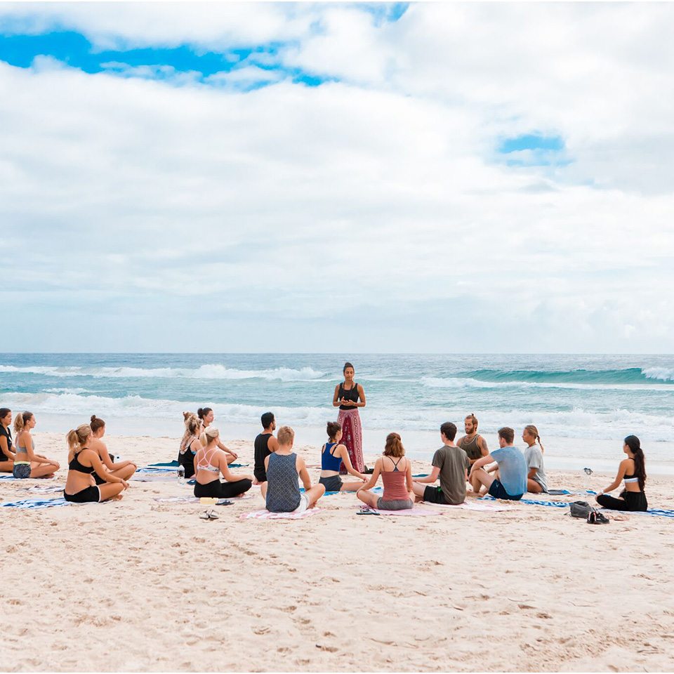 Wake Up Byron Bay Yoga on the beach