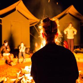 Campfire outback Australia