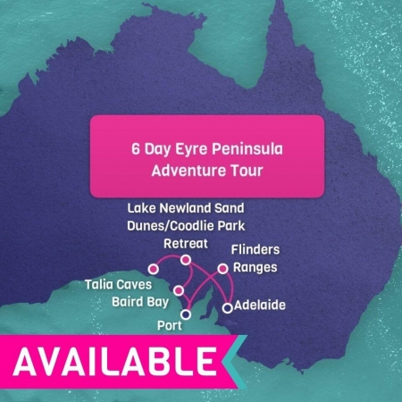 6 day eyre peninisula tour
