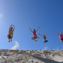 Jumping at Henty Dunes Big time!