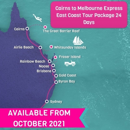 Cairns to Melbourne Express East Coast Tour Package