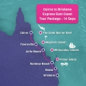 Cairns to Brisbane Express Map