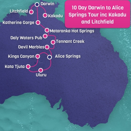 Darwin to Alice Springs 10 Day Tour