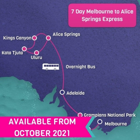 7 Day Melbourne to Alice Springs Express Tour