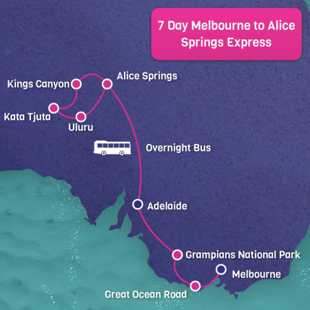 Express Melbourne to Alice Springs 7 Day