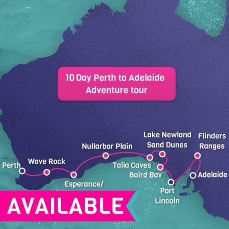 10 day perth to adelaide tour
